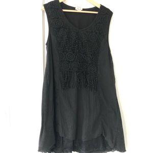 Pretty angel boho tunic top dress linen